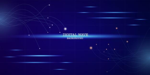 Aansluitende lijnen. abstracte technologie blauwe achtergrond.