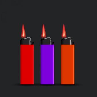 Aansteker ingesteld op zwart