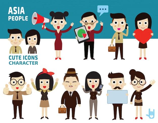 Aantal aziatische mensen.