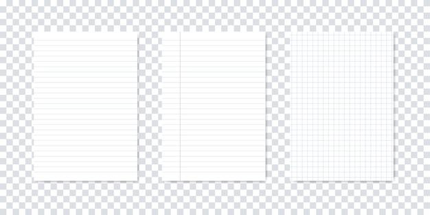 Aantal blanco vellen papier