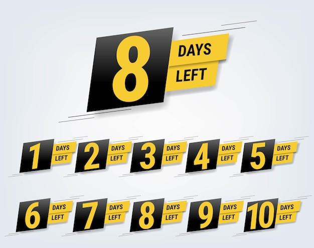 Aantal dagen links banner grijze achtergrond met verloopnet