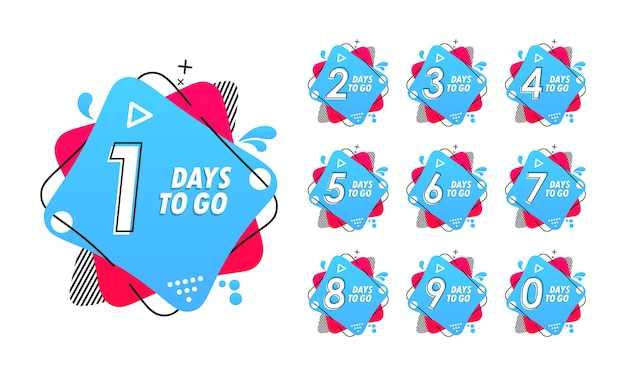 Aantal dagen links illustratie