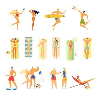 Aantal jonge en oudere mensen in zwemkleding