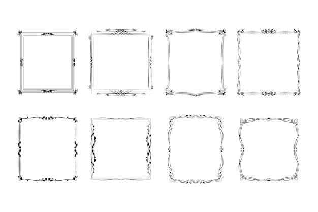 Aantal lege sier vintage frames
