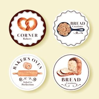 Aantal logo's van bakkerijwinkels