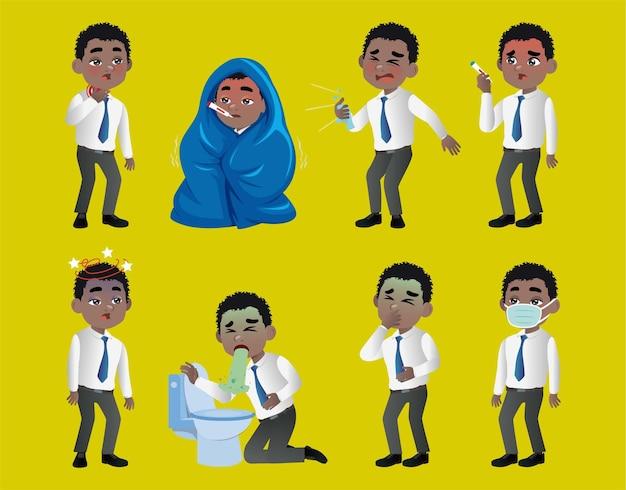 Aantal mannen met pijn en ziekten