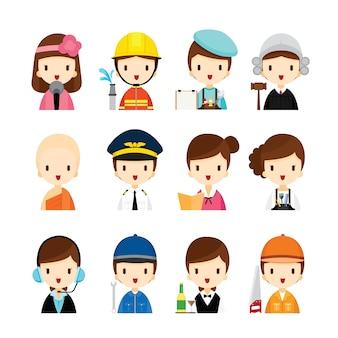 Aantal mensen beroepen, kinderen dromen carrières