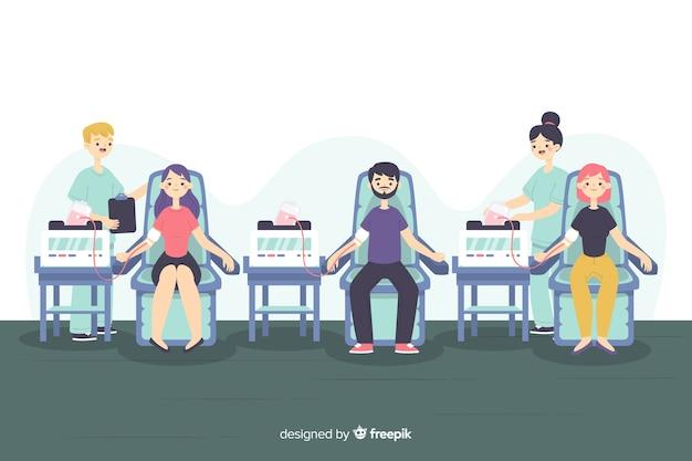 Aantal mensen bloed doneren