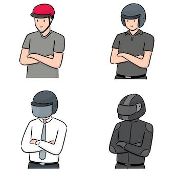 Aantal mensen dragen van een helm