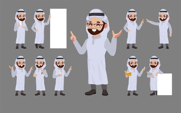 Aantal mensen met verschillende poses