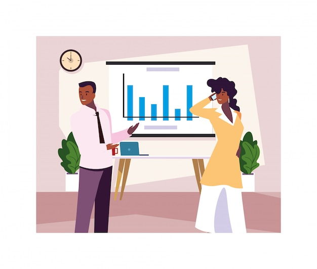 Aantal mensen op kantoor, gecoördineerd werk in een vriendelijk team op kantoor