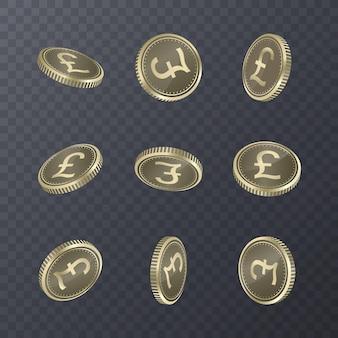 Aantal munten op transparant. bitcoin 3d-stijl.
