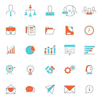 Aantal populaire zakelijke of financiële pictogram, gebruik voor web- en presentatie pictogram activa