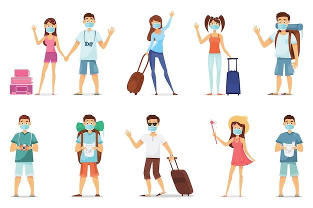 Aantal reizigers dat een masker draagt om een epidemie te voorkomen