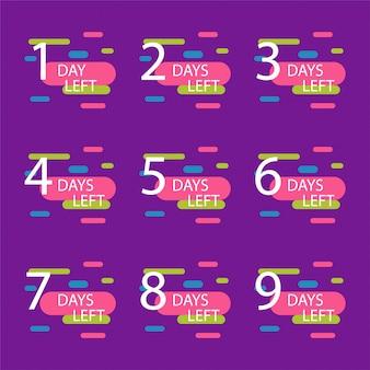 Aantal resterende dagen badge