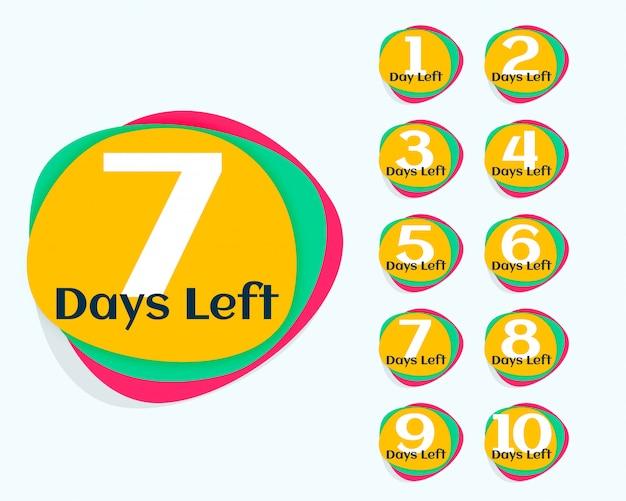 Aantal resterende dagen countdown timer
