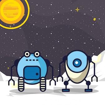 Aantal robots technologie illustratie