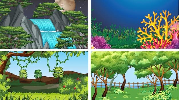 Aantal scènes in de natuur