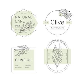 Aantal stickers, stempels, tags voor olijfolie, zeep, cosmetica en andere.