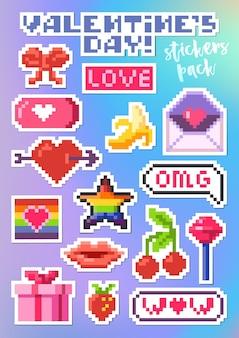 Aantal stickers voor valentijnsdag