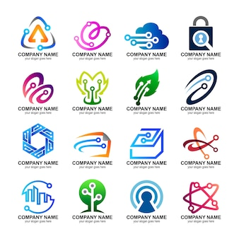 Aantal technologische logo's