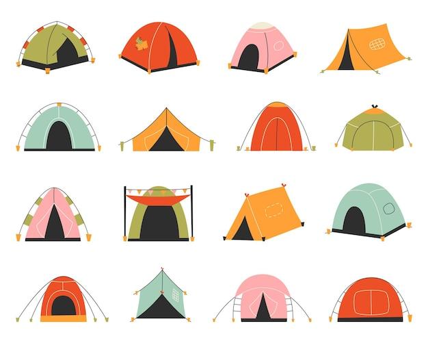Aantal toeristische tenten.