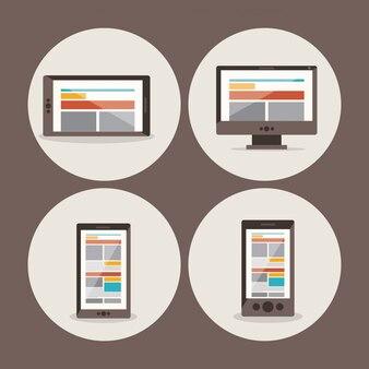 Aantal verschillende apparaten: smartphone, tablet, computer en laptop
