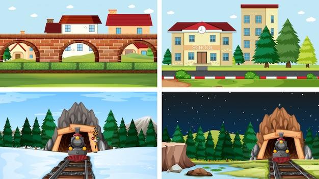 Aantal verschillende scènes of achtergrond
