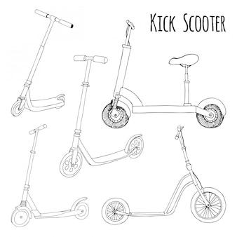 Aantal verschillende scooters.
