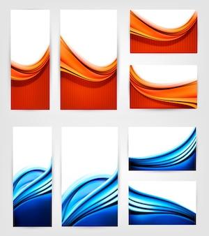 Aantal visitekaartjes met golven