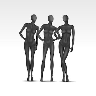 Aantal vrouwelijke mannequins