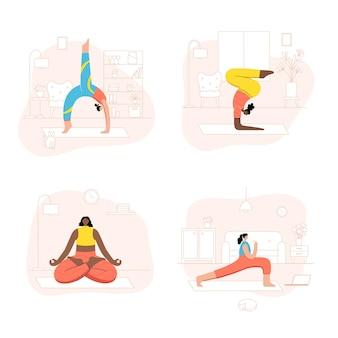 Aantal vrouwen die online yoga-oefeningen thuis of op het werk uitvoeren.