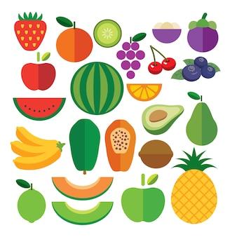 Aantal vruchten platte pictogram