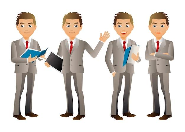 Aantal zakenmensen met verschillende poses