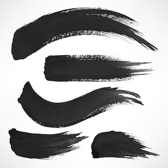 Aantal zwarte penseelstreken