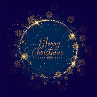 Aantrekkelijke blauwe kerstmissneeuwvlokken