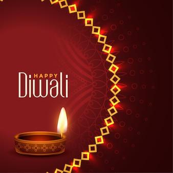 Aantrekkelijke gelukkige diwali traditionele festivalachtergrond