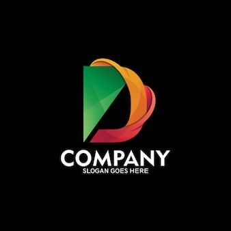 Aantrekkelijke logo letter d, vector logo sjabloon. eerste letter d-logo