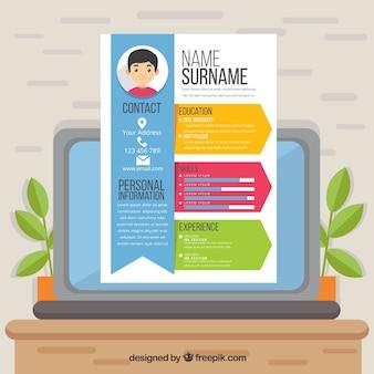 Aantrekkelijke online curriculum-sjabloon