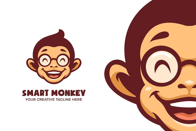 Aap cartoon mascot karakter logo sjabloon