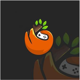 Aap hangt logo illustratie af
