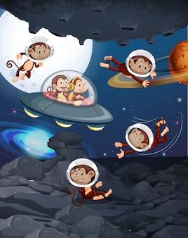 Aap op de ruimte