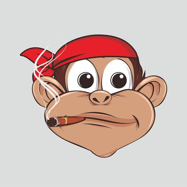 Aap piraten schattig met sigaar