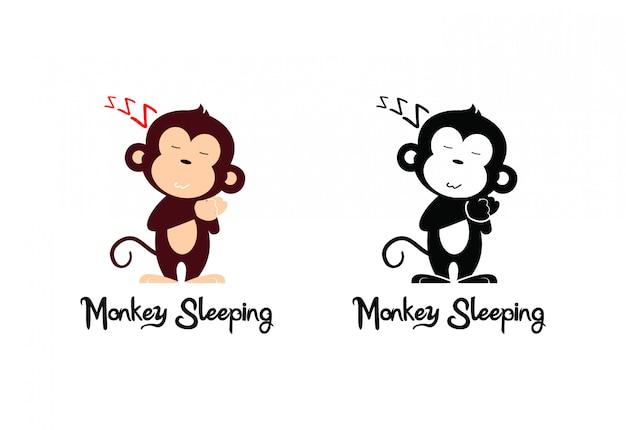 Aap slapen