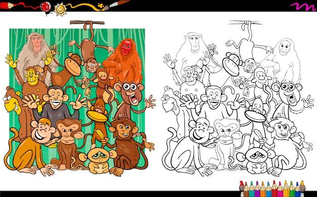 Aap tekens kleurboek