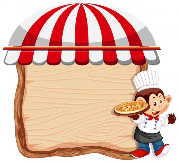 Aapchef-kok op houten achtergrond