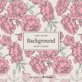 Aardachtergrond met mooie pioenbloemen