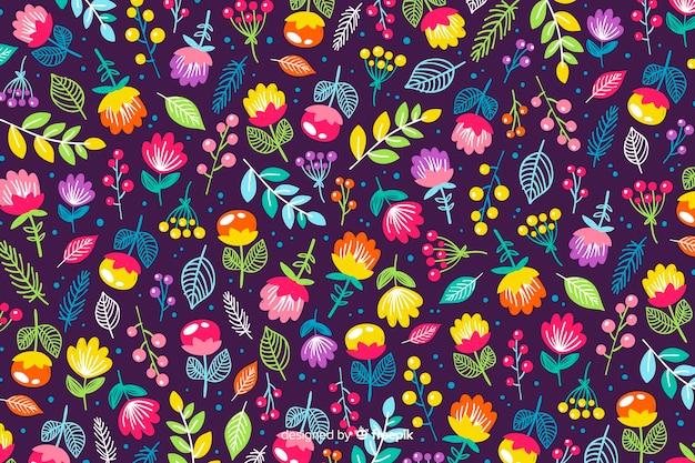 Aardachtergrond van kleurrijke bloemen