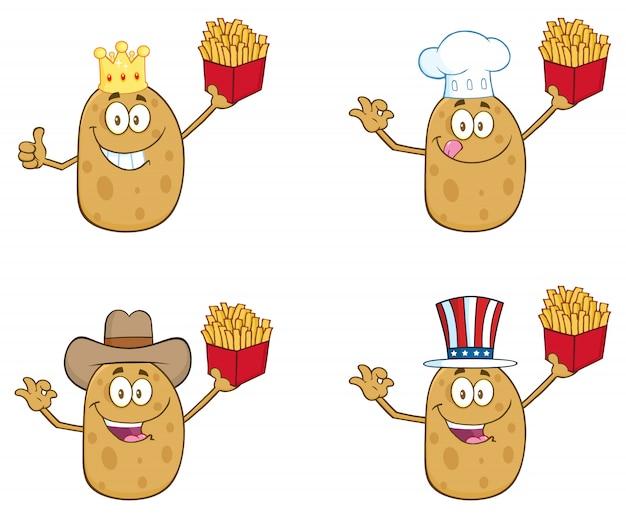 Aardappel cartoon mascotte karakter