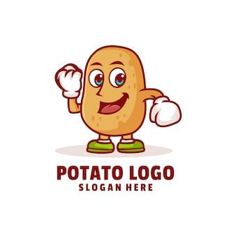 Aardappel schattig logo ontwerp vector
